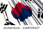 abstract flag of south korea.... | Shutterstock . vector #1268535637