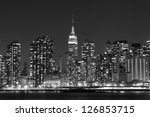 Midtown Manhattan Skyline At...