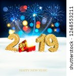 holiday new year background... | Shutterstock .eps vector #1268553211