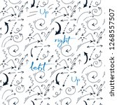 seamless pattern  hand drawn... | Shutterstock .eps vector #1268557507