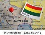 pin marked santa cruz on map ... | Shutterstock . vector #1268581441