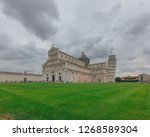 view of pisa cathedral and... | Shutterstock . vector #1268589304