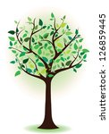 tree with green leaves. spring... | Shutterstock .eps vector #126859445