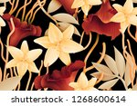 colourful seamless pattern with ... | Shutterstock . vector #1268600614