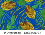 colourful seamless pattern with ... | Shutterstock . vector #1268600734