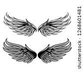 wings set isolated vector design | Shutterstock .eps vector #1268601481
