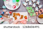 flat lay. step by step.... | Shutterstock . vector #1268606491