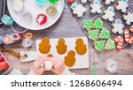 flat lay. step by step.... | Shutterstock . vector #1268606494