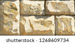 stone elevation wall tiles for... | Shutterstock . vector #1268609734