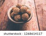 tilgul laddu or til gul balls... | Shutterstock . vector #1268614117