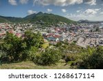 the view from fort louis on the ... | Shutterstock . vector #1268617114