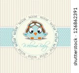 New Welcome Baby Boy Card
