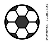 cartoon soccer ball icon