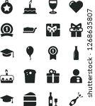 solid black vector icon set  ... | Shutterstock .eps vector #1268635807