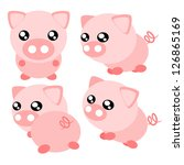 animal,art,baby,cartoon,cute,design,farm,fat,funny,illustration,isolated,little,mammal,pig,pink