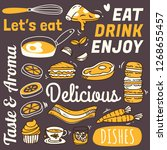 restaurant background with... | Shutterstock .eps vector #1268655457