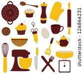 illustration of many kitchen... | Shutterstock . vector #126866231