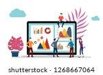 team office worker working... | Shutterstock .eps vector #1268667064