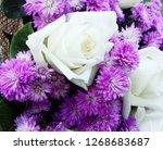 beautiful flowers as background  | Shutterstock . vector #1268683687