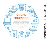 e learning distance education... | Shutterstock .eps vector #1268684287