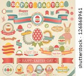easter scrapbook set   labels ... | Shutterstock .eps vector #126868961