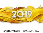 2019 merry christmas and happy... | Shutterstock . vector #1268693467