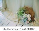 wedding decor. bouquet. flowers ... | Shutterstock . vector #1268701321