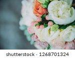 beautiful wedding bouquet of... | Shutterstock . vector #1268701324