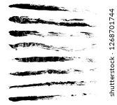 set of grunge paint brushes ... | Shutterstock .eps vector #1268701744