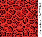 seamless leopard print. vector...   Shutterstock .eps vector #1268707441