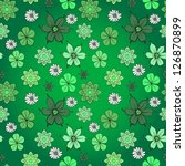 green flower pattern | Shutterstock .eps vector #126870899