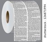 vector newspaper columns shaped ... | Shutterstock .eps vector #126871994