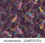 geometrical allover pattern... | Shutterstock . vector #1268721751