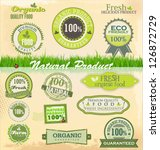 eco and bio labels set | Shutterstock .eps vector #126872729