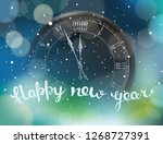 happy new year greeting card. ... | Shutterstock .eps vector #1268727391