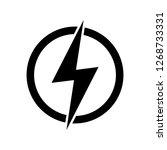 lightning  electric power... | Shutterstock .eps vector #1268733331
