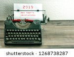 typewriter with white paper... | Shutterstock . vector #1268738287