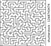 labyrinth of medium complexity. ... | Shutterstock .eps vector #1268743474