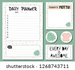 set of stationery daily planner ... | Shutterstock .eps vector #1268743711