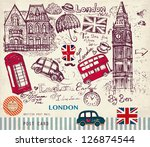 vector hand drawn illustration... | Shutterstock .eps vector #126874544