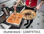 horizontal view of homemade... | Shutterstock . vector #1268747311