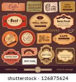 Stock vector vector collection vintage and retro labels 126875624