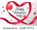 happy valentines day lettering... | Shutterstock .eps vector #1268779771
