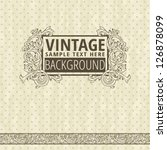 vintage frame with polka dot... | Shutterstock .eps vector #126878099