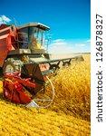 Combine Harvester Close Up
