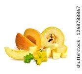 melon low poly. fresh ... | Shutterstock . vector #1268788867