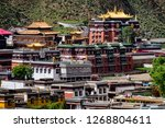 skyline of labrang  china. view ... | Shutterstock . vector #1268804611