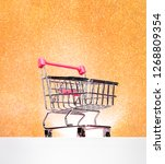 trolley for shopping on a... | Shutterstock . vector #1268809354
