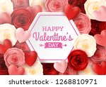 valentines day greeting card... | Shutterstock .eps vector #1268810971