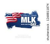 martin luther king day banner... | Shutterstock .eps vector #1268811874